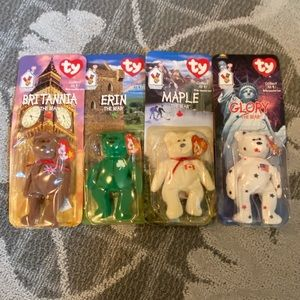 TY| McDonald's Set of ALL 4  Beanie Babies In Box